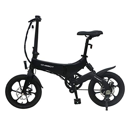 "Bestice Electric Bikes for Adult ONEBOT S6 16"" Foldable E-Bike 36V 6.4Ah 250W 25KM/h Electric Bikes Adjustable Lightweight Magnesium Alloy Frame E-Bike for Sports Cycling Travel Commuting"