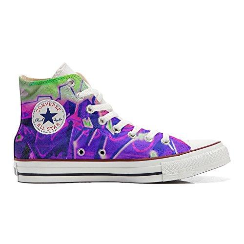 Sneakers Original American USA Custoomized schoenen (kunsthandwerk Artesano) met lak mistviolet