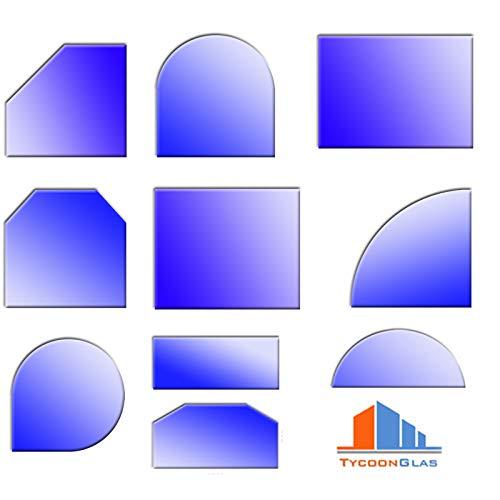 Glasbodenplatten für Kaminöfen verschiedene Formen und Stärken 6mm Halbkreis 1000x600