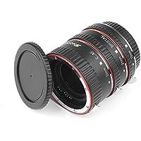 D&F AF Enfoque Automático Tubo de Extensión Macro Set Extreme Close-Ups para Canon EOS EF EF-S Lente Cámaras Réflex Digitales como Canon 7D,500D,600D,700D,1100D,5D Mark II III, Rebel T2i,T3i,T5i