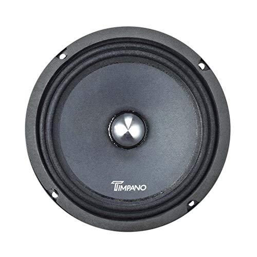 Timpano TPT-MR8-4 BULLET 8 Inches Pro Mid Range Bullet Loudspeaker - 200 Watts RMS - 4 Ohm Impedance Midrange Speaker for Pro Car Audio (Single)