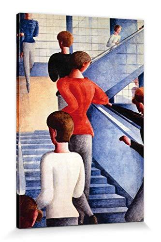 1art1 Oskar Schlemmer - Bauhaustreppe, 1932 Poster Leinwandbild Auf Keilrahmen 120 x 80 cm