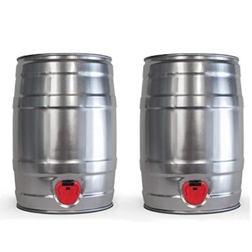 Cooling Cubes 5 Liter KEG Leerfass Partyfass zum Selbstabfüllen Bierbrauer Brau-Set