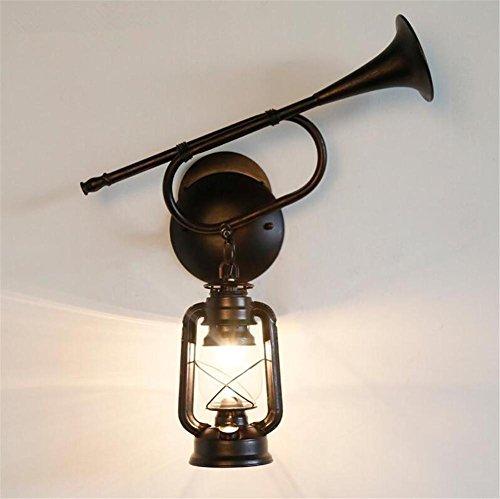 Atmko®Applique Murale Industriel Vintage Wall Light Iron Trumpet Lampe murale Lampe Kerosene pour salon Chambre Hallway Antique Design Applique Murale Luminaire Applique