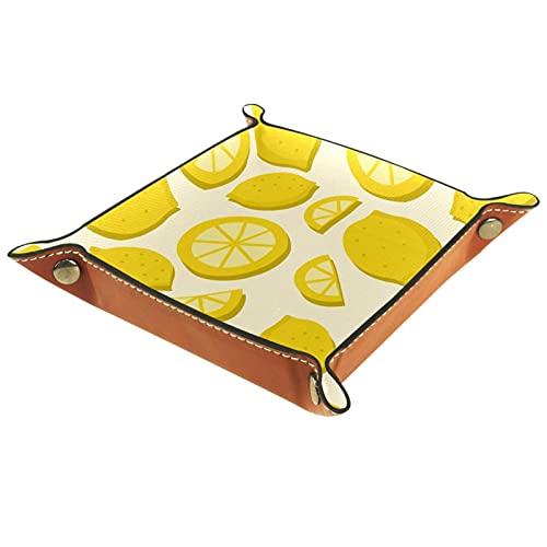Patrón de frutas tropicales limón verano para control remoto, llaves, teléfono, cartera, moneda, organizador de joyas