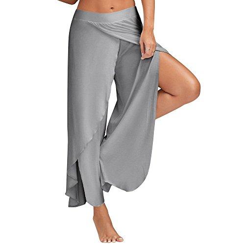 YWLINK 2018 Damen Kleidung,Mode Taille Breites Bein Flowy Hosen Frauen LäSsige Sommer Einfarbig Lange Lose Yoga Hosen