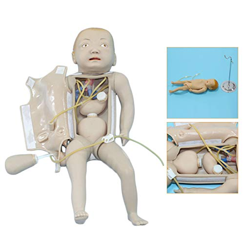 FHUILI Intubation Manikin Studie Teaching Model - Medical Traning Modell Baby-Pflegemodell -Für Nursing Medical Training Teaching & Bildung Supplies