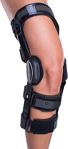 DonJoy FullForce Knee Support Brace: Standard Calf Length, ACL (Anterior Cruciate Ligament), Left Leg, Medium
