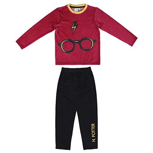 CERDÁ LIFE'S LITTLE MOMENTS Pijama Terciopelo de Harry Potter-Licencia Oficial Warner Bros, Rojo,...