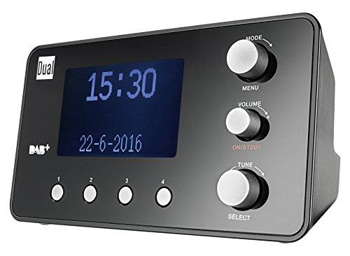 Dual DAB CR 25.1 Radiowecker (DAB+/ UKW-Radio, Senderspeicherfunktion, Snooze-Funktion, 2 Weckzeiten, Sleeptimer, Datumsanzeige, Kopfhöreranschluss) schwarz
