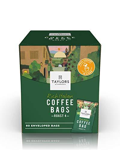 Taylors of Harrogate Rich Italian Ground Coffee Bags, 80 Enveloped Bags
