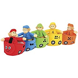 Velour Bilingual Play and Learn Monkey Train