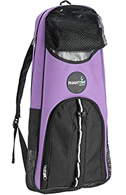 Phantom Aquatics Snorkeling Backpack Diving Gear Bag with Shoulder Strap - Fits Fins, Snorkel, Mask and More - Ideal Travel Bag for Scuba Diving, Snorkeling Gear Equipment and Water Sports - Purple