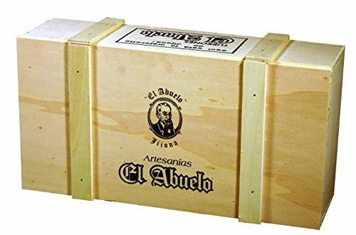 Lote de Turrones artesanos en Caja de Madera blanca (nº 2), El...