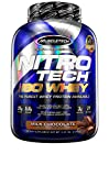 Whey Protein Isolate | MuscleTech Nitro-Tech Elite 100% Whey Isolate Protein Powder | Whey Protein Powder for Women & Men | Muscle Builder | Chocolate Protein Powder, 5 lbs (77 Servings)