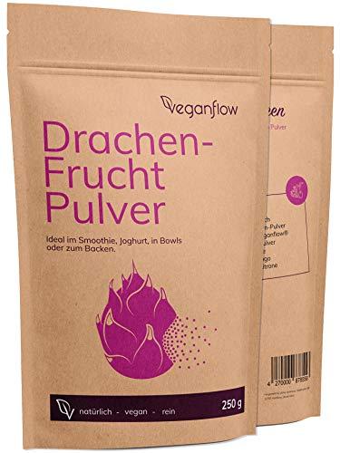 Drachenfrucht Pulver 250g für Smoothies, 100 % natürliches & getrocknetes Pitaya-Pulver, Frucht-Pulver für die Bowl, vegan
