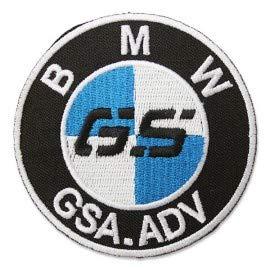 PATCHMANIA B.M.W. GS Adventure Logo 7,6 CM Parche, Parches Termoadhesivos,Parche Bordado para la Ropa Termoadhesivo