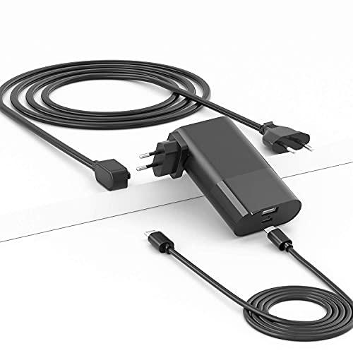 SoulBay - Cargador Adaptador de Corriente portátil PD USB C de 65 W, Enchufe de Pared y Uso de Escritorio, Compatible con Mac Book Pro, Air, iPad, iPhone, Galaxy