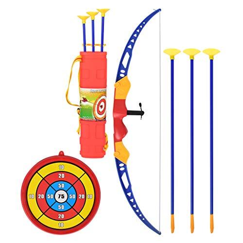DEARLOYEA Arco e flecha para crianças com flecha de arco e flecha macia de plástico com conjunto de brinquedos alvo para jogos ao ar livre