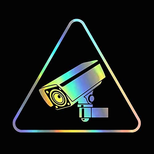 PMSMT 13,4 cm * 11,8 cm Accesorios de señal de videovigilancia Genial calcomanía de Vinilo para cámara de señal de Advertencia Peugeot