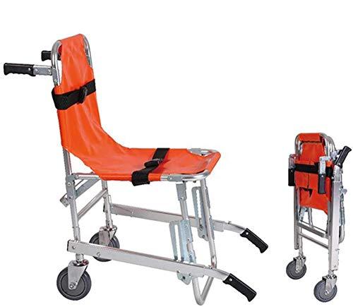 Silla De Escalera - Aluminio Bomba De Ambulancia Ligera Bomba De Evacuación Médica Silla De Escalera Con Hebillas De Liberación Rápida, Naranja