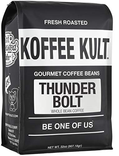 Koffee Kult Thunder Bolt Whole Bean Coffee, with French...