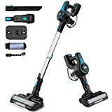 INSE Cordless Vacuum Cleaner, 6 in 1 Powerful Suction Lightweight Stick Vacuum with 2200mAh Rechargable Battery, Up to 45min Runtime, for Home Furniture Hard Floor Carpet Car Pet Hair-N5 Blue