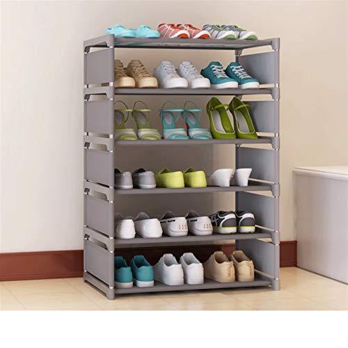 SLAKF Zapato Simple Hogar Home Fácil Asamblea Nonwoven Zapatos Estante Muebles Entrante Almacenamiento Organizador Espacio Ahorro Gabinete de Zapatos (Color : Grey 6L)