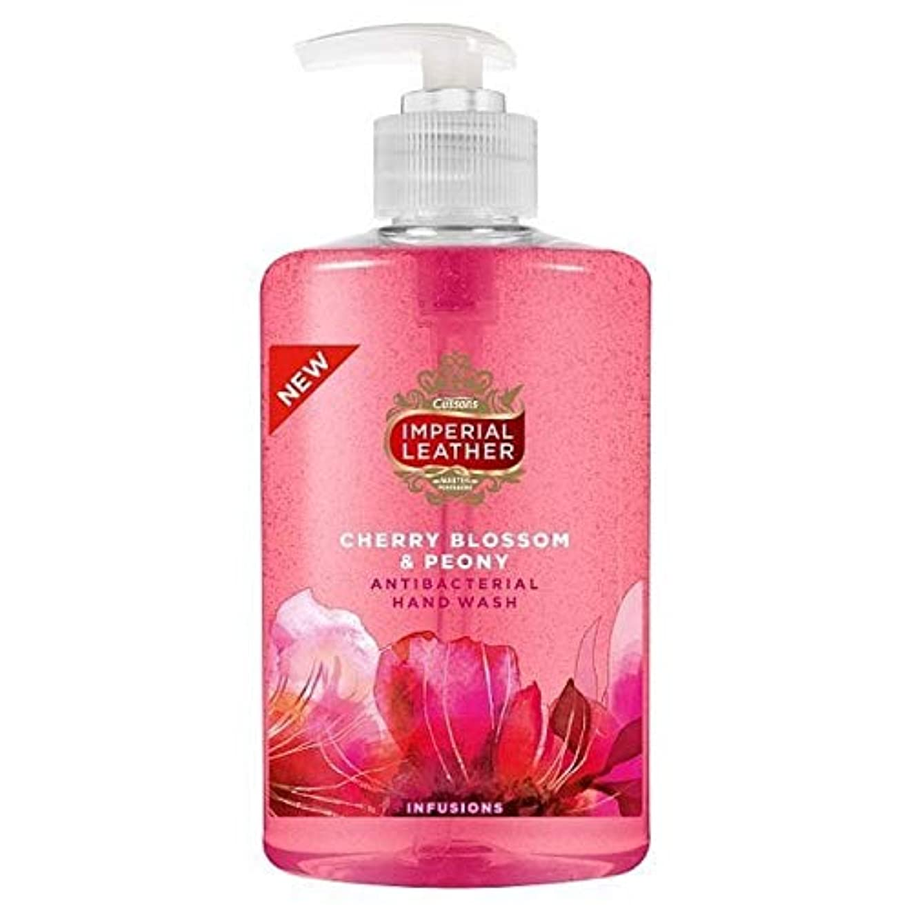 [Imperial Leather ] 帝国革の桜&牡丹手洗いの300ミリリットル - Imperial Leather Cherry Blossom & Peony Handwash 300ml [並行輸入品]