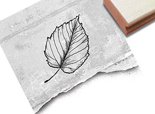 Stempel Motivstempel Buchen-Blatt - Bildstempel für Basteln Karten...