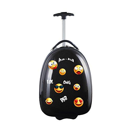 Kids Lil' Adventurer Emoji Luggage Pod, GEZZL601_Black, Black , 19