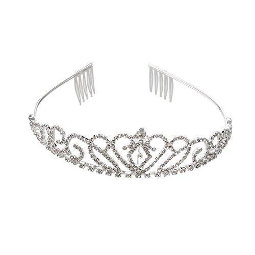 Pixnor Magnifique strass joli diadème Couronne bandeau exquis peigne Pin diadèmes de mariage anniversaire de mariage