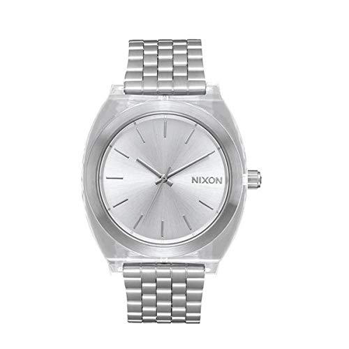 Nixon Unisex Analog Automatik Uhr mit Leder Armband A199000-00