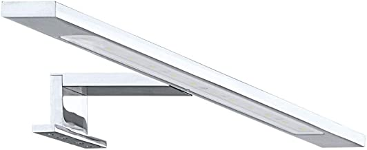 Badkamerlamp, badkamerlamp & lamp voor de badkamer LED klassiek tijdloos wit chroom glas gesatineerd aluminium   1 lamp