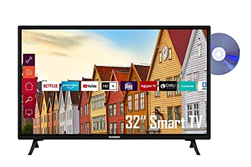 Telefunken XF32K559D 32 Zoll Fernseher / Smart TV (Full HD, HDR, Triple-Tuner, DVD-Player, Bluetooth) - 6 Monate HD+ inklusive
