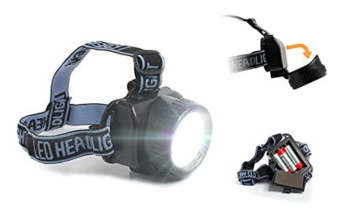Zagon Linterna Frontal LED Profesional - Linterna para Cabeza - Alta Potencia - luz Blanca con 19 LED