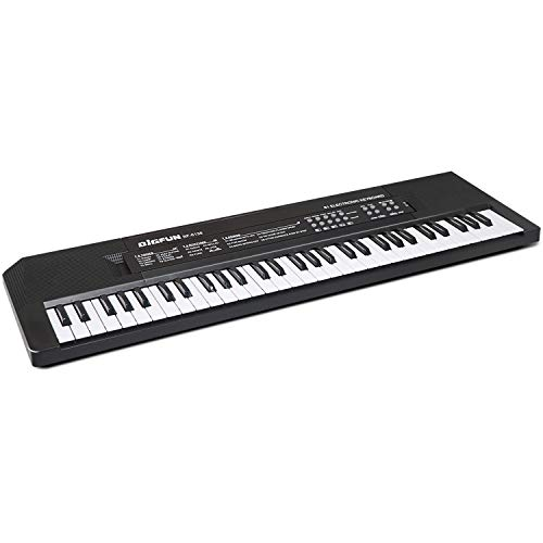 aPerfectLife Keyboard Piano 61 Key, Portable Electronic Kids Keyboard Piano Educational Toy, Digital Music Piano Keyboard for Children Girls Boys (Black)