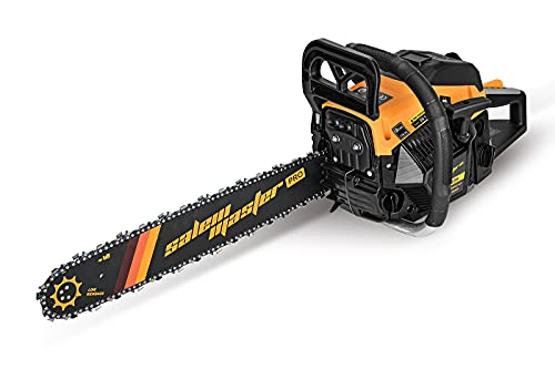 SALEM MASTER Gas Chainsaw for Trees 6220H 62CC 2-Cycle Gas Powered Chainsaw, 20-Inch Chainsaw, Handheld Cordless Petrol Gasoline Chain Saw for Farm, Garden and Ranch