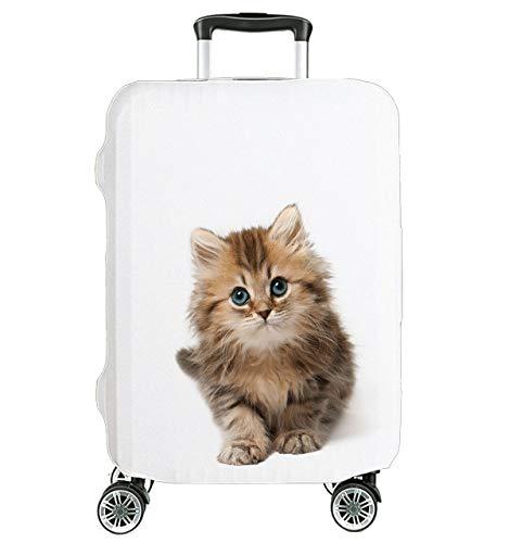 Hochelastische Reise-Koffer Abdeckung Schutzabdeckung Kofferschutzhülle Kofferbezug Kofferhülle weiß Katze Groß 27