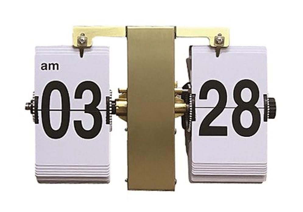 十分なトリップローブHOUSE USE PRODUCTS 置き掛け兼用時計 フリップ式 Volk ゴールド ACL090