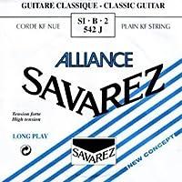 SAVAREZ ALLIANCE ハイテンション SI・B・2 542J クラシックギター弦(バラ) 2弦 B弦 1本入り 【国内正規品】