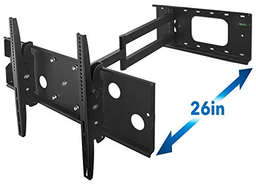 Mount-It! Long Arm TV Wall Mount With 26 Inch Extension, Swing Out Full Motion Design for...