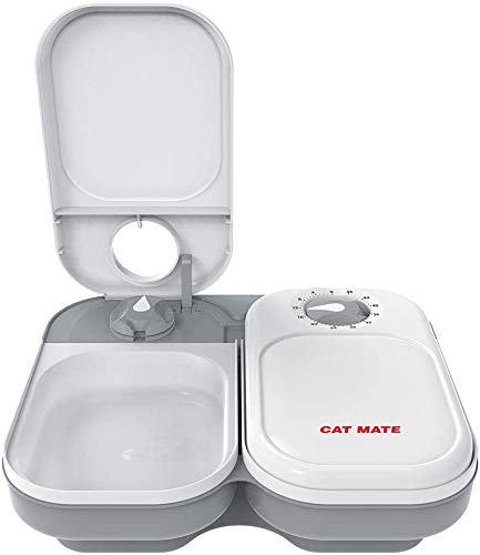 Cat Mate C200 Double Meal Automatic Pet Feeders for Cats and Small Dogs