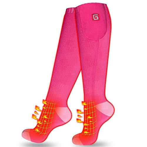 Mermaid Beheizte Socken Akku Rechargeable Socken Warme Füße Warme Thermalksocken für Frauen Extreme kalte Winter Heizung Socken für Skifahren, Wandern, Jagen