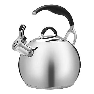 VICALINA Stainless Steel Tea Kettle, Whistling Tea Pot, Seamless Bottom, Multi-Layer Encapsulated Base, 2.3-QT