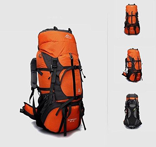 Professionnel en plein air, randonnée sac à dos voyage sac 80L litres capacité sacs à dos sac à dos team , orange