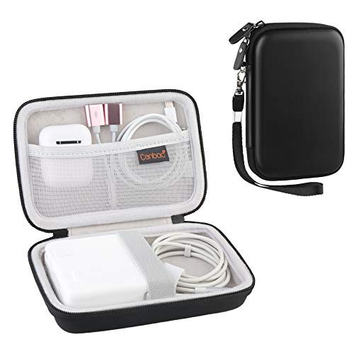 Canboc Carrying Case for MacBook Air Pro Charger MagSafe/MagSafe 2 Power Adapter, iPhone 12/12 Pro MagSafe Charger, USB C Hub, Type C Hub, USB Multiport Adapter, Hard EVA Shockproof Pouch, Black