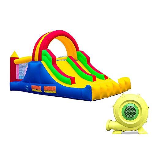 Ballsea Tobogán de Agua Juguete , Aplicar para amplios Suministros para Piscinas Juegos acuáticos Instalaciones recreativas Al Aire Libre Tobogán acuático para niños (Paño de Oxford)