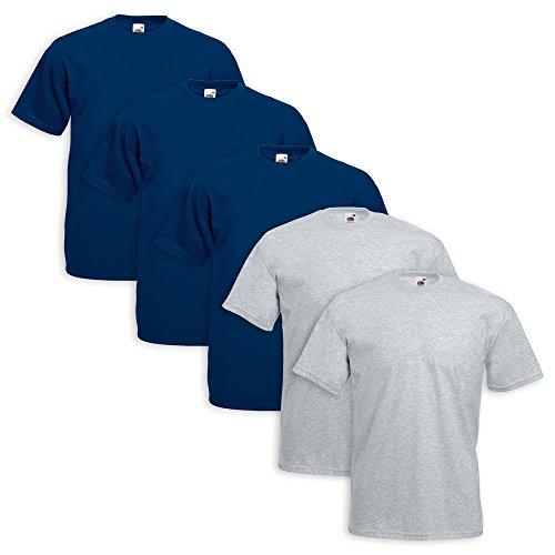 Fruit - Sweat-shirt - Homme 3 Pezzi Blu Navy 2 Grigio