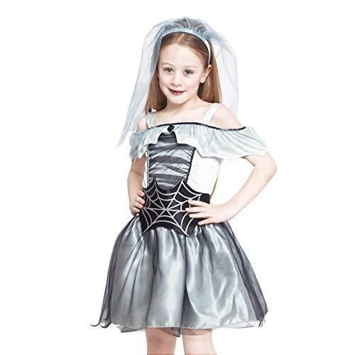 Disfraz Novia Cadáver Spiderweb para Niña Halloween (7-9 años) (+Tallas)